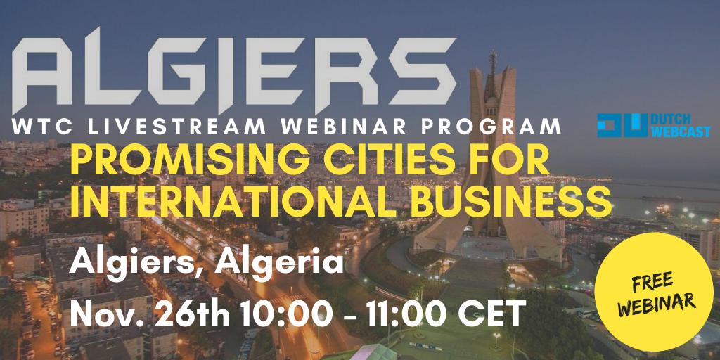 WTC Leeuwarden webinar series - Promising city: Algiers