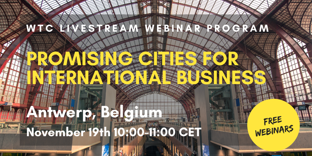WTC Leeuwarden webinar series - Promising city: Antwerp
