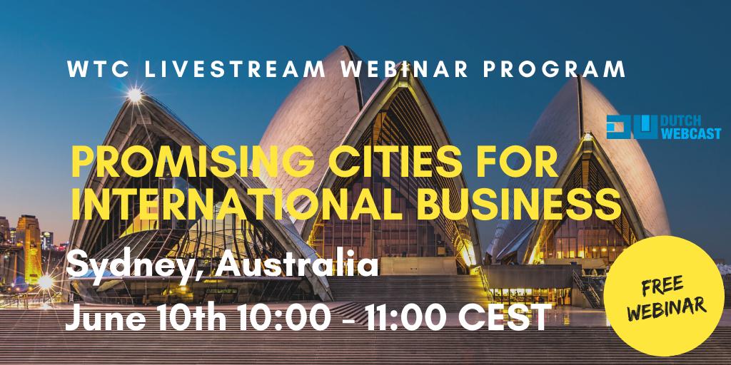 WTC Leeuwarden webinar series - Promising city: Sydney
