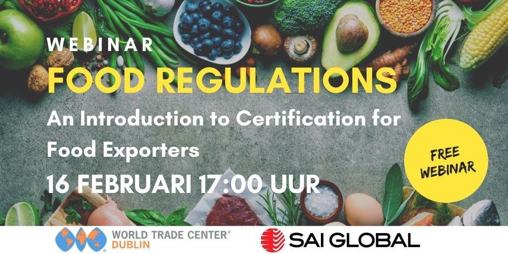 Food regulations webinar - WTC Dublin